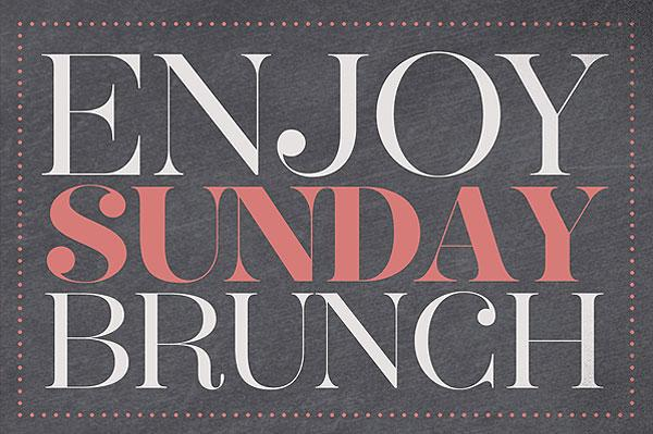 Sunday Brunch Enjoy